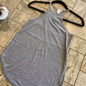 Gray halter top tank